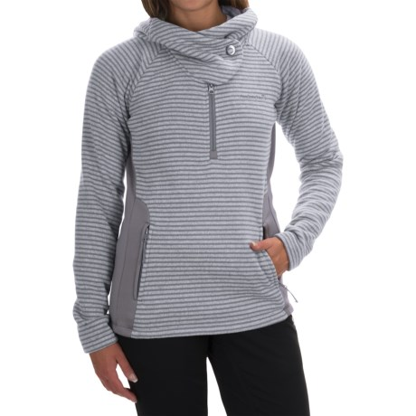 Avalanche Cascade Hooded Sweater - Zip Neck (For Women)