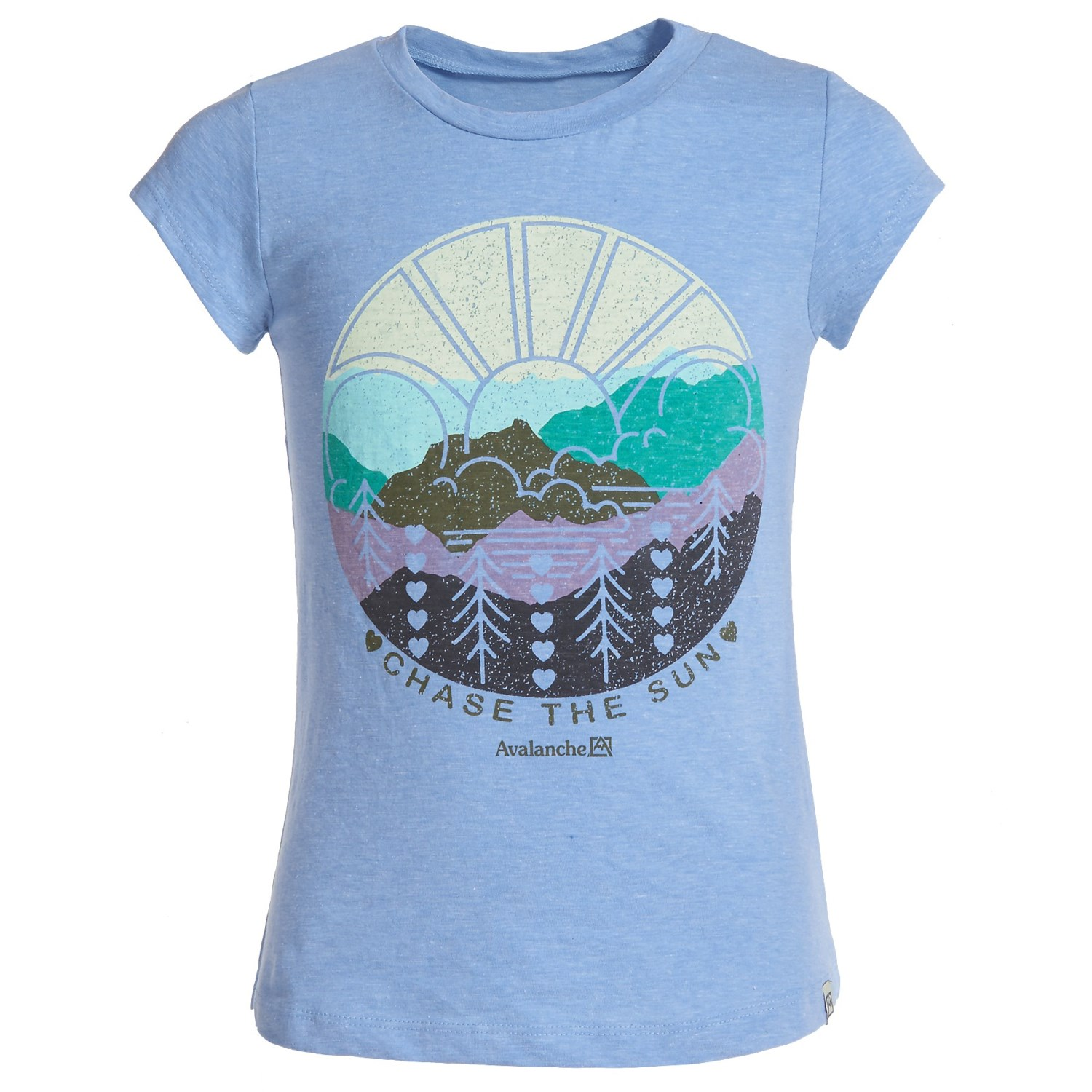 Avalanche Circle Outdoor Graphic T-Shirt - Short Sleeve (For Girls)