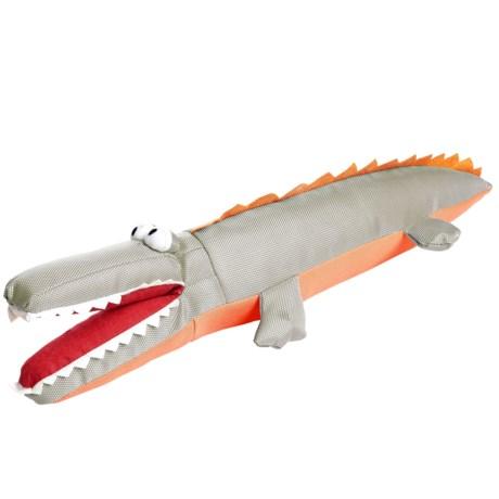 Avalanche Crocodile Dog Toy with Bottle in Orange