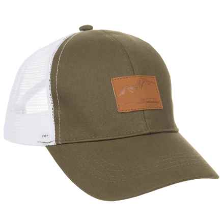 Avalanche Deboss Mountain Patch Uncle Trucker (For Boys) in Olive - Closeouts