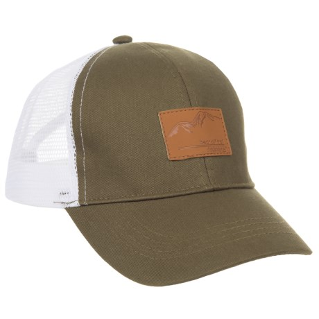 Avalanche Deboss Mountain Patch Uncle Trucker (For Boys) in Olive