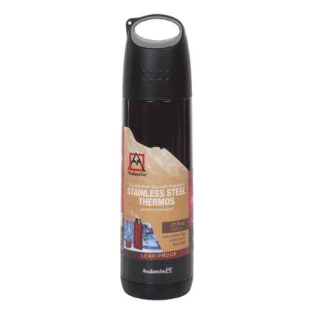 Avalanche Double-Wall Outdoor Vacuum Bottle - 17 fl.oz in Black - Closeouts