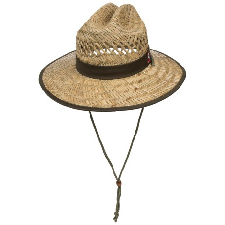 Avalanche Embroidered Lifeguard Straw Hat (For Men) in Natural