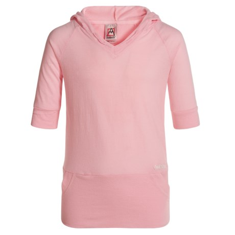 Avalanche Emory Hooded Shirt - Short Sleeve (For Girls) in Rose