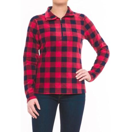 Avalanche Fairmont Fleece Shirt - Zip Neck, Long Sleeve (For Women) in Chili Pepper/Indigo Buffalo Plaid