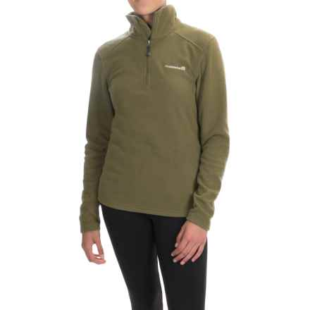 Avalanche Fairmont Fleece Shirt - Zip Neck, Long Sleeve (For Women) in Dark Olive - Closeouts