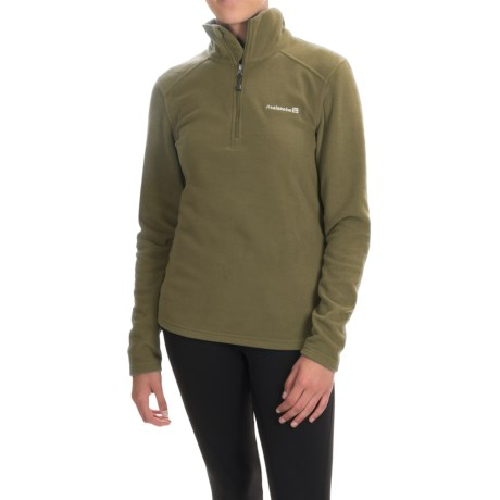 Avalanche Fairmont Fleece Shirt - Zip Neck, Long Sleeve (For Women) in Dark Olive