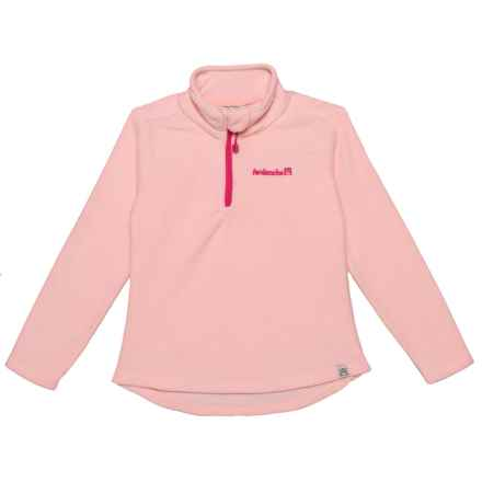 Avalanche Fleece Zip Neck Sweater (For Little Girls) in Rose - Closeouts