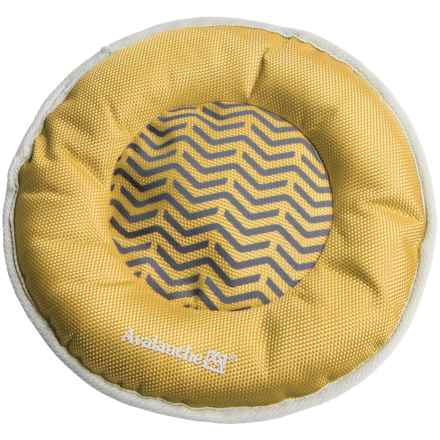 Avalanche Flying Disc Toy with Squeaker in Yellow - Closeouts
