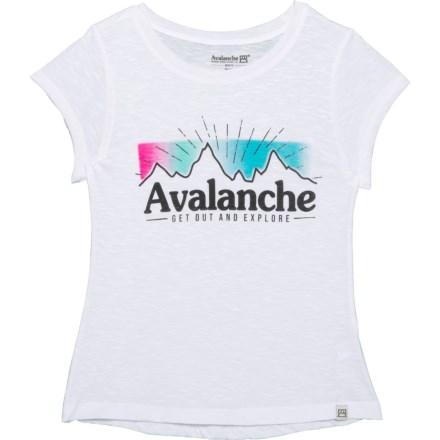 1cce50b3a16c Avalanche Get Out and Explore Branded T-Shirt - Short Sleeve (For Big Girls