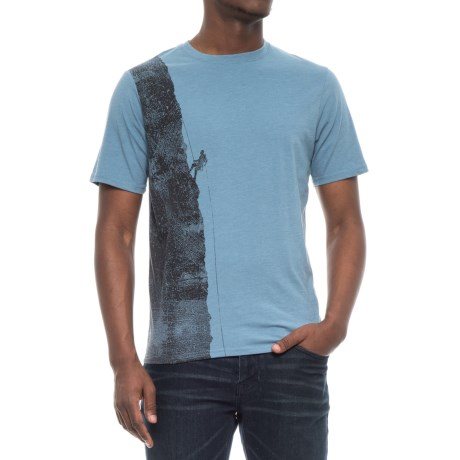 Avalanche Graphic T-Shirt - Short Sleeve (For Men) in Blue Shadow Climber