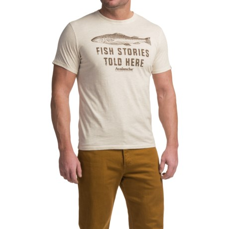 Avalanche Graphic T-Shirt - Short Sleeve (For Men) in Fish Stories