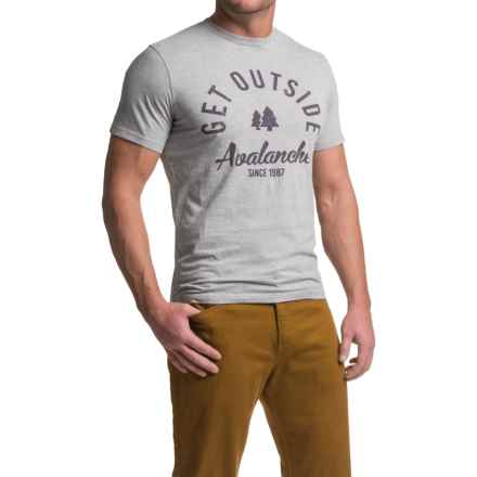 Avalanche Graphic T-Shirt - Short Sleeve (For Men) in Get Outside - Closeouts