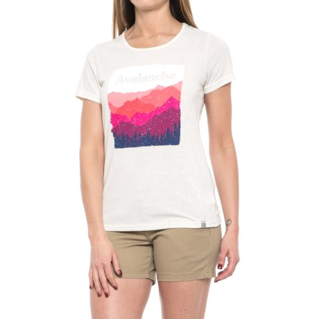 Avalanche Graphic T-Shirt - Short Sleeve (For Women) in Antique White
