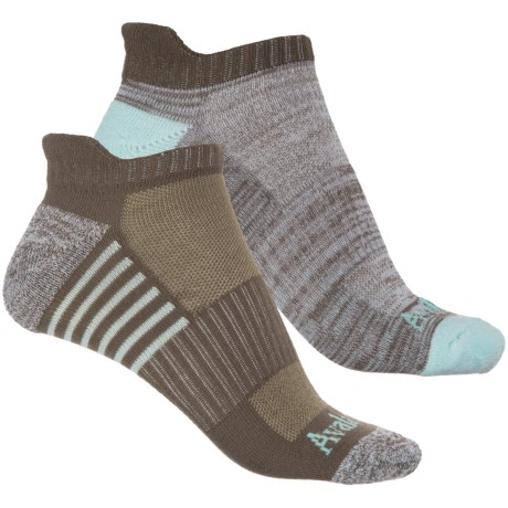 Avalanche Low-Cut Tab Socks - 2-Pack, Below the Ankle (For Women) in Brown Heather