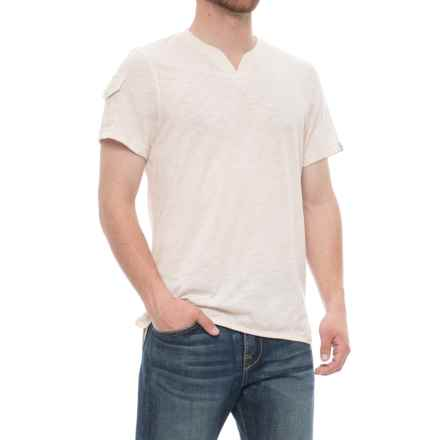 Avalanche Lumo Henley Shirt - Short Sleeve (For Men) in Antique White Heather - Closeouts