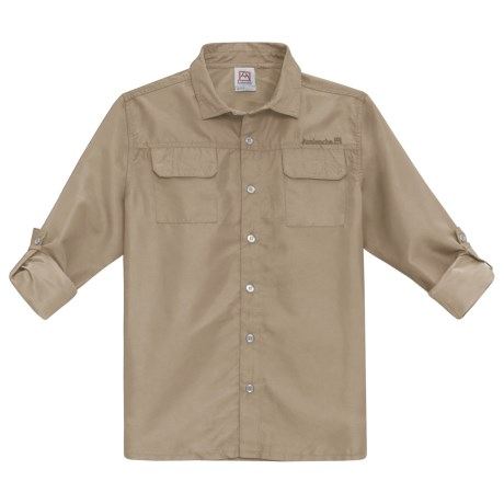 Avalanche Lumo Travel Shirt - Roll-Up Long Sleeve (For Big Boys) in Khaki