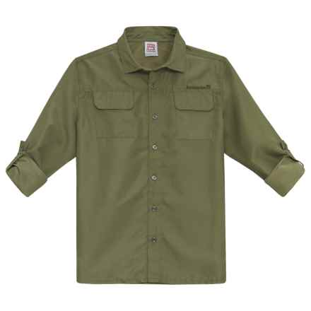 Avalanche Lumo Travel Shirt - Roll-Up Long Sleeve (For Big Boys) in Loden Green - Closeouts
