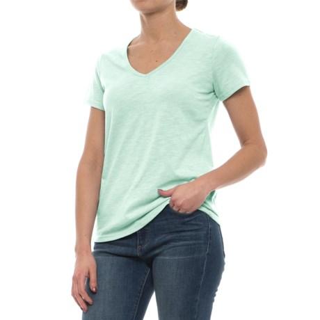 Avalanche Marisol Slub V-Neck T-Shirt - Short Sleeve (For Women) in Hushed Green