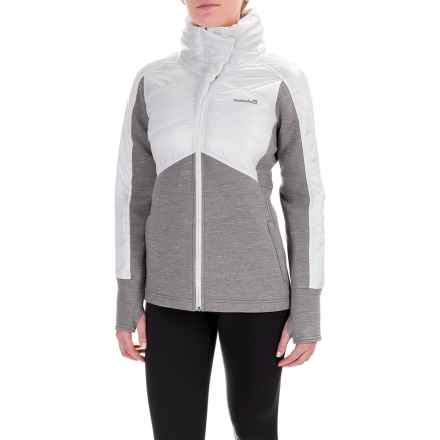 Avalanche Melinka Hybrid Jacket - Insulated (For Women) in White/ Light Grey Heather/ White - Closeouts