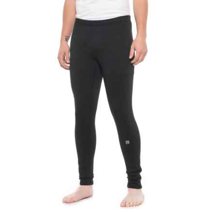 Avalanche Mogul Stretch Fleece Base Layer Pants (For Men) in Black Solid - Closeouts