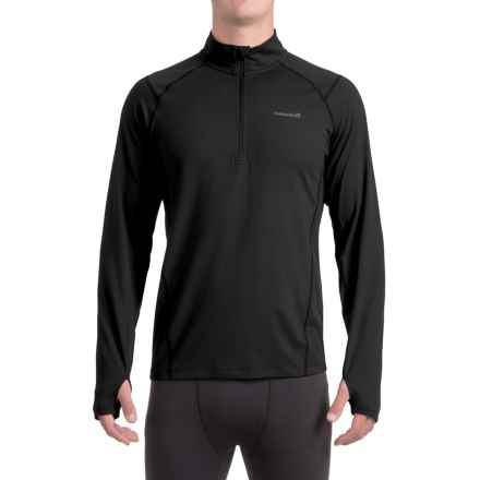 Avalanche Mont Blanc Shirt - Zip Neck, Long Sleeve (For Men) in Black - Closeouts