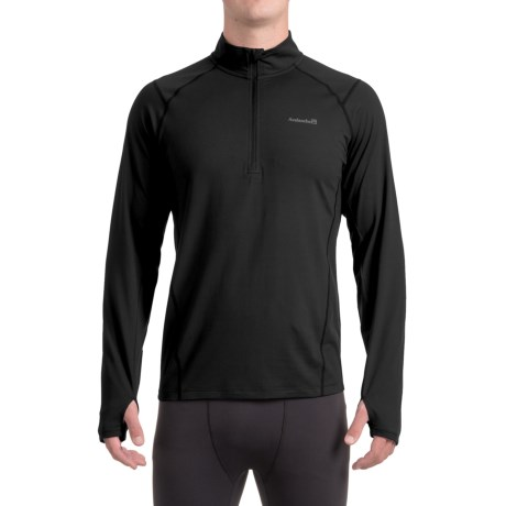 Avalanche Mont Blanc Shirt - Zip Neck, Long Sleeve (For Men) in Black