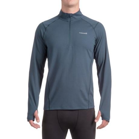 Avalanche Mont Blanc Shirt - Zip Neck, Long Sleeve (For Men) in Indigo