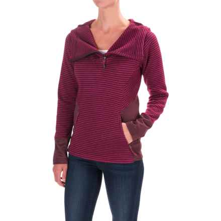 Avalanche Morgan Hooded Sweater - Zip Neck (For Women) in Nocturne Wine/Sangria - Closeouts