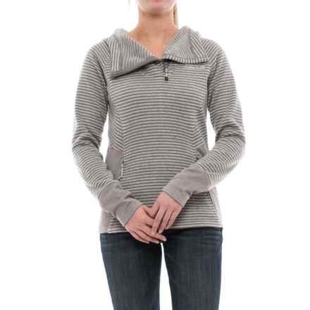 Avalanche Morgan Hooded Sweater - Zip Neck (For Women) in Tornado/Lunar Rock - Closeouts