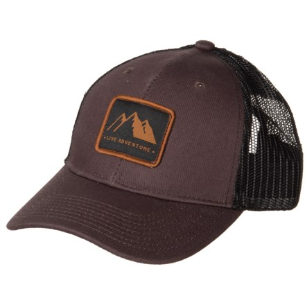 4769a1f3153da Avalanche Mountain Trail Patch Trucker Hat (For Men) in Brown - Closeouts