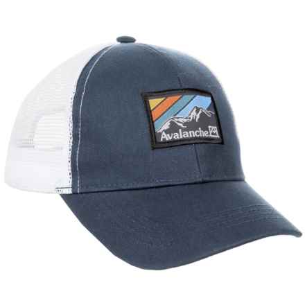Avalanche Navy Woven Label Patch Uncle Trucker Hat (For Boys) in Navy - Closeouts