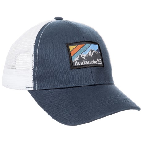 Avalanche Navy Woven Label Patch Uncle Trucker Hat (For Boys) in Navy