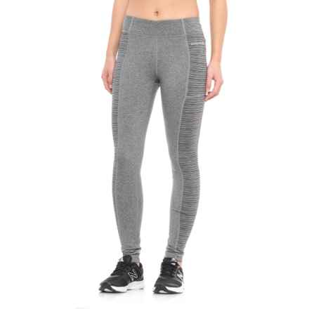 Avalanche Nesika Leggings - Jacquard Side Panels (For Women) in Medium Heather Grey/ Lunar Rock Multi - Closeouts