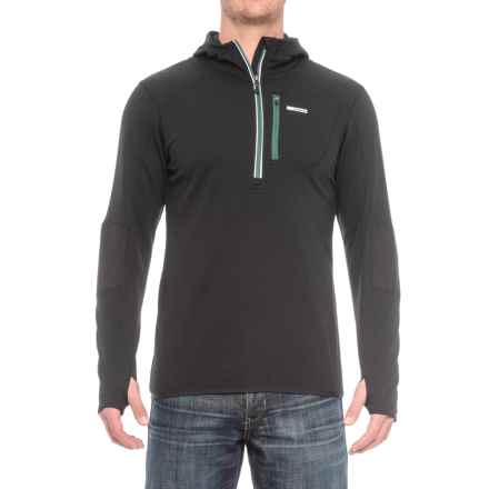 Avalanche Off the Grid Fleece Hooded Shirt - Zip Neck, Long Sleeve (For Men) in Black - Closeouts