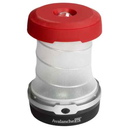 Avalanche Outdoor 2-in-1 Collapsible Lantern in Red/Black - Closeouts