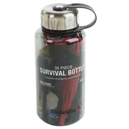 Avalanche Outdoor Camping Survival Kit Bottle in See Photo - Closeouts