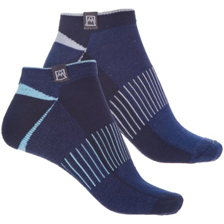 Avalanche Outdoor Socks - 2-Pack, Below the Ankle (For Women) in Navy Heather