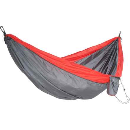"""Avalanche Outdoors Portable Double Hammock - 9'x6'3"""", Grey-Red"""