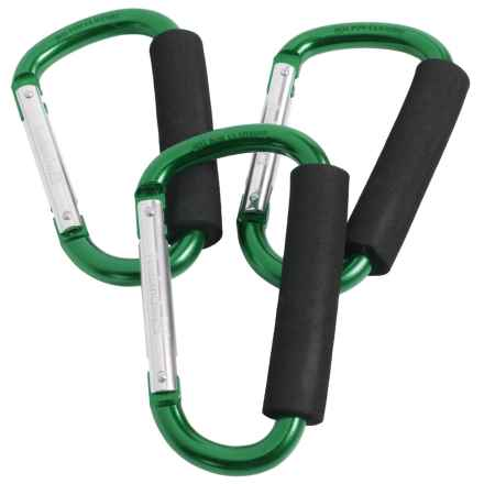 Avalanche Padded Large Carry Carabiner - 3-Pack in Green - Closeouts