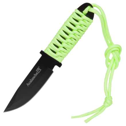 "Avalanche Paracord Fixed-Blade Knife - 3-1/2"" blade in Green - Closeouts"