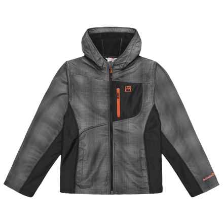 Avalanche Printed Fleece-Lined Jacket (For Big Boys) in Charcoal - Closeouts