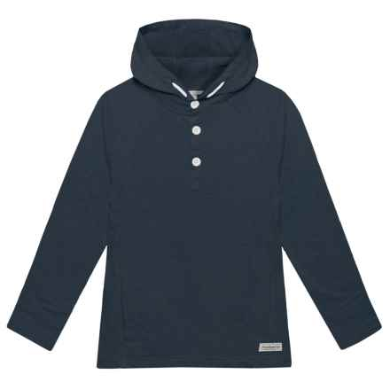 Avalanche Quarry Hooded Henley Shirt - Long Sleeve (For Big Boys) in Midnight Navy - Closeouts