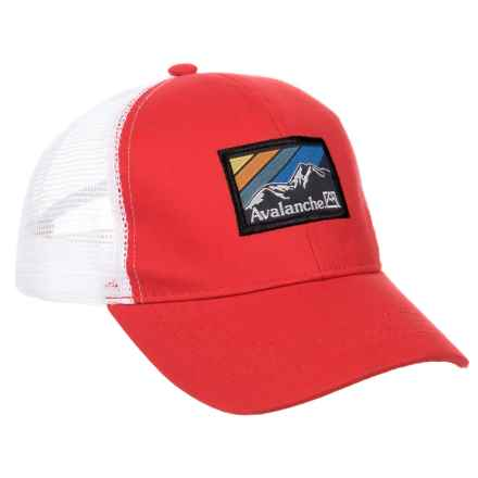 Avalanche Red Woven Label Patch Uncle Trucker Hat (For Boys) in Red - Closeouts