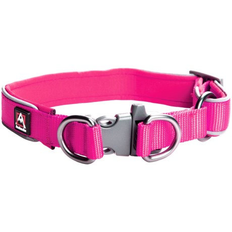 Avalanche Reflective Dog Collar in Pink