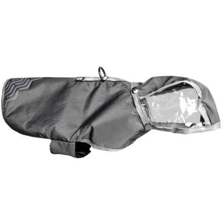 Avalanche Reflective Dog Rain Coat in Charcoal - Closeouts