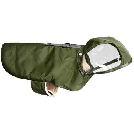Avalanche Reflective Dog Rain Coat in Green - Closeouts