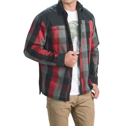 Avalanche Rocky Shirt Jacket - Insulated (For Men) in Crimson Red - Closeouts