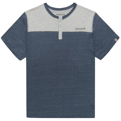 Avalanche Rory Henley Shirt - Short Sleeve (For Big Boys) in Vintage Navy Heather