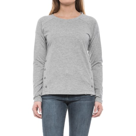 Avalanche Senna Snap Crew Shirt - Long Sleeve (For Women) in Grey